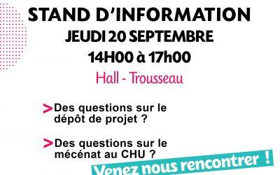 Venez nous rencontrer le 20 septembre 2018 à Trousseau