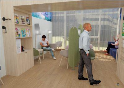 Une salle d'attente plus adaptée